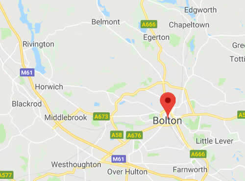 map of Bolton areas we cover